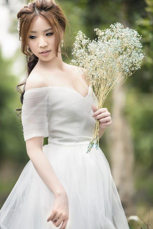 귀여운, 꽃, 드레스