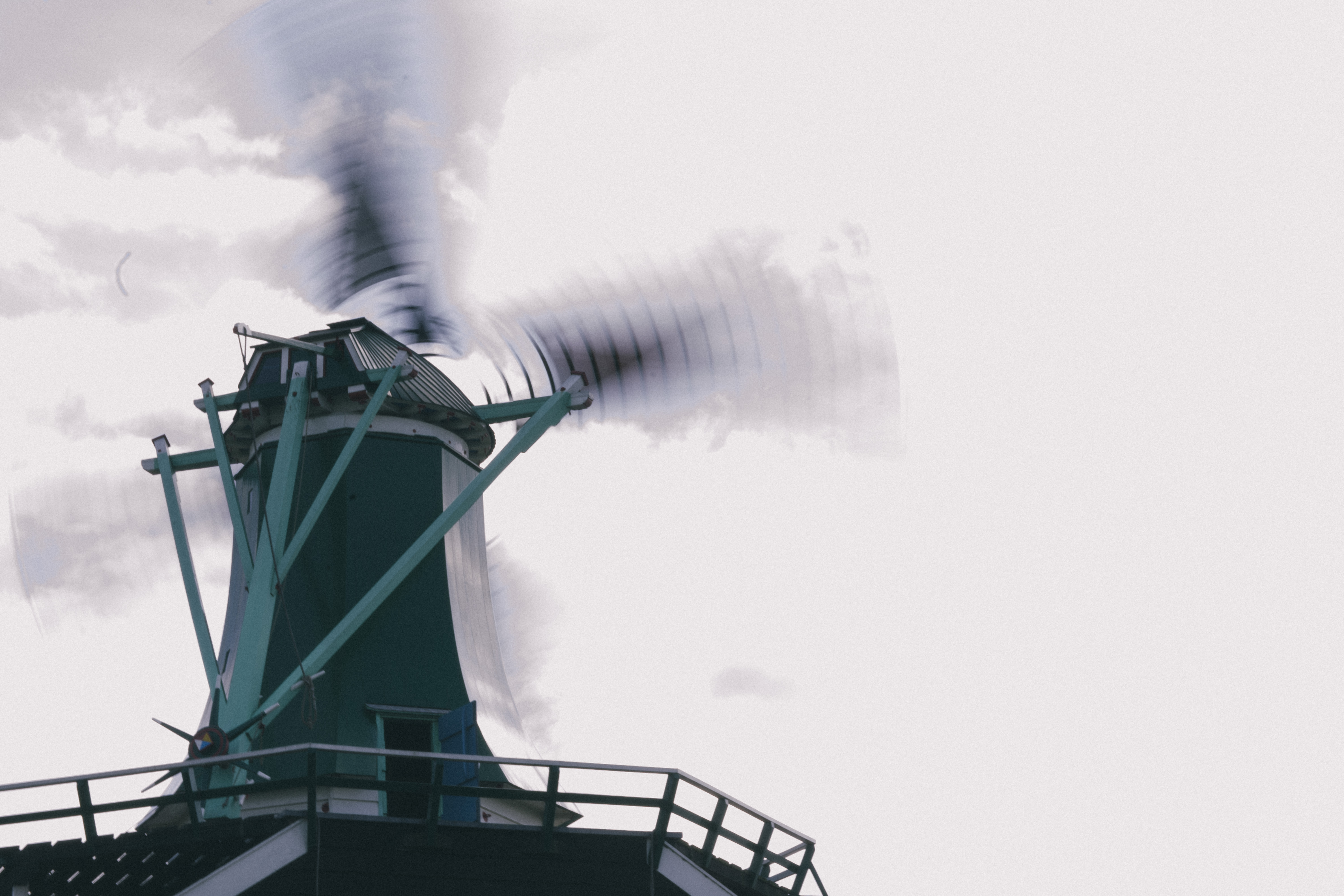 low angle photography of a windmill
