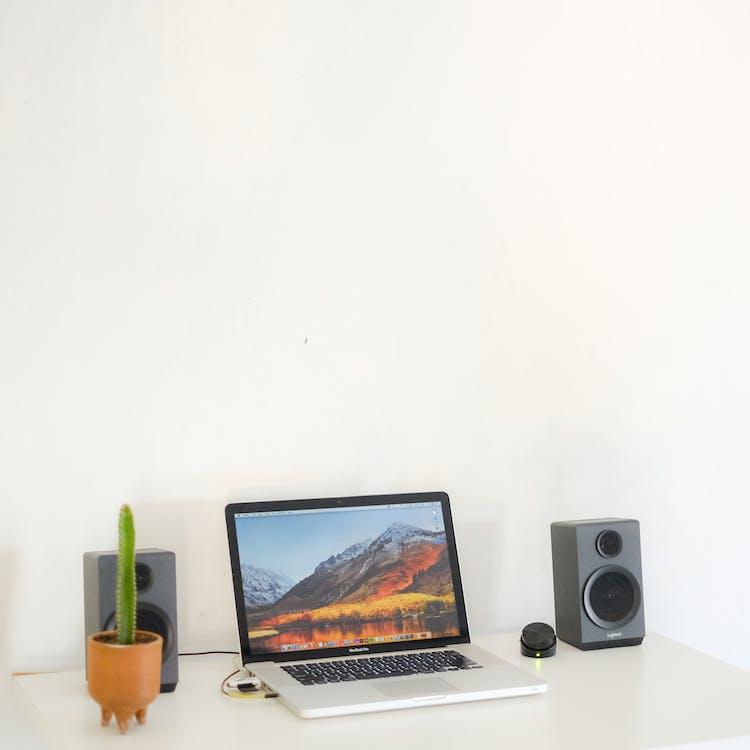 arbeidsplass, bærbar, bærbar datamaskin