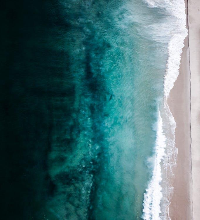 bord de mer, côte, d'en haut
