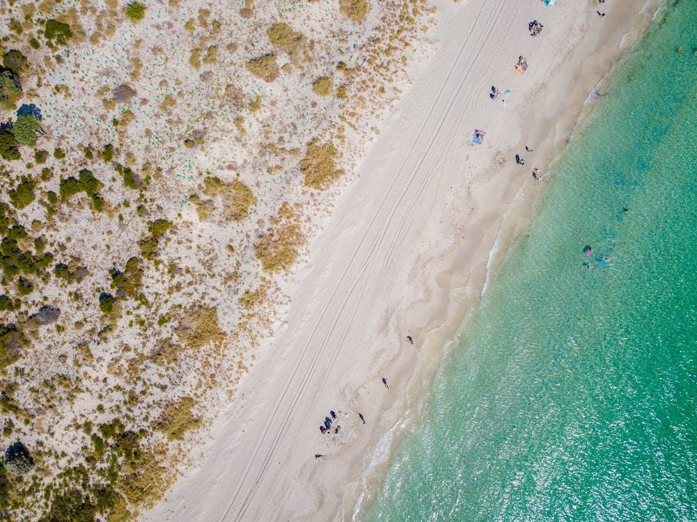 aallot, hiekka, hiekkaranta