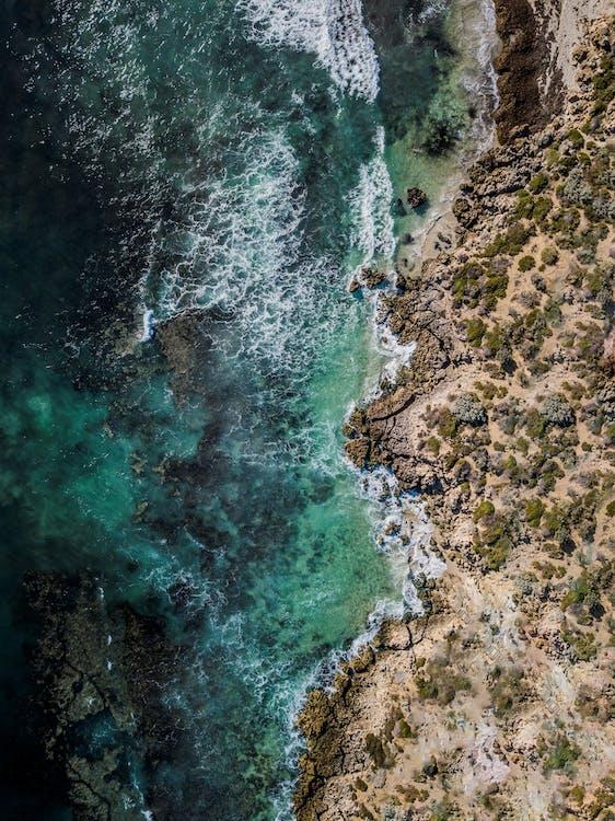 krajina, krajina pri mori, letecké snímkovanie