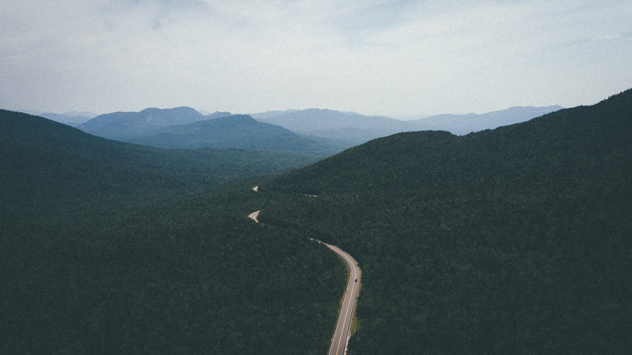 Aerial Photography of Wide Road