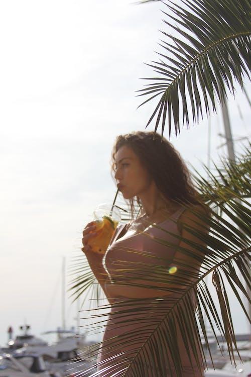 1 person, beach, beautiful