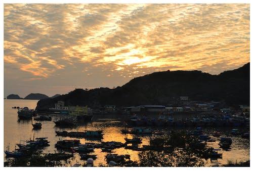 Photos gratuites de baie d'halong, coucher de soleil baie d'halong, lanha bay, viêt nam
