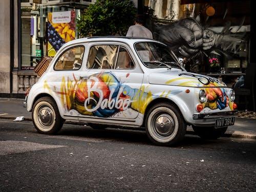 Δωρεάν στοκ φωτογραφιών με babbo, fiat 500, fiat polski, funky αυτοκίνητο