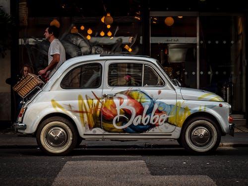 クールな車, バボ, ファンキーな車, フィアット500の無料の写真素材