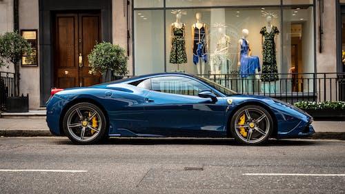458, Ferrari, ferrari 458 italia, mavi içeren Ücretsiz stok fotoğraf