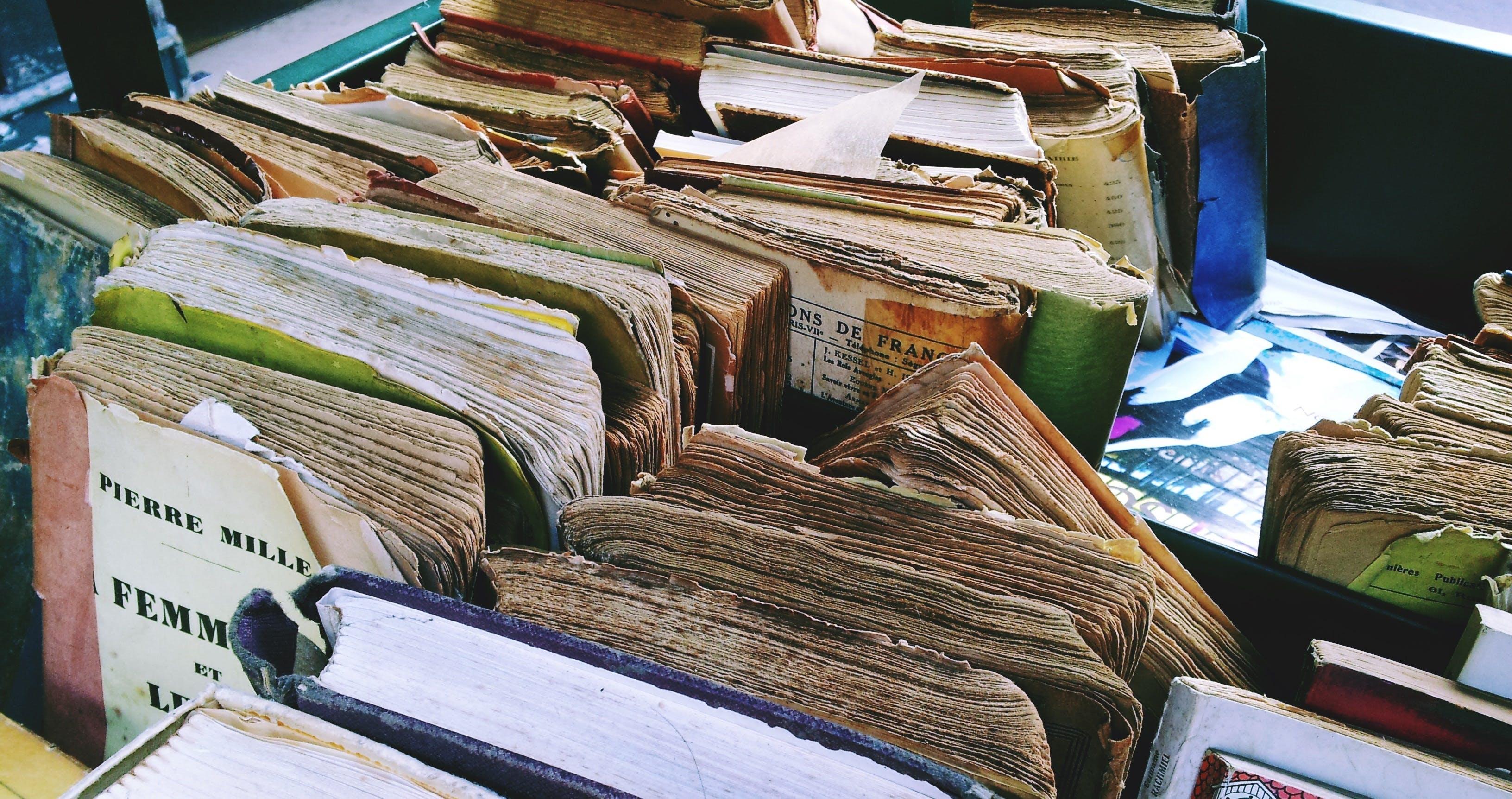 Free stock photo of books, flea market, old book, old books