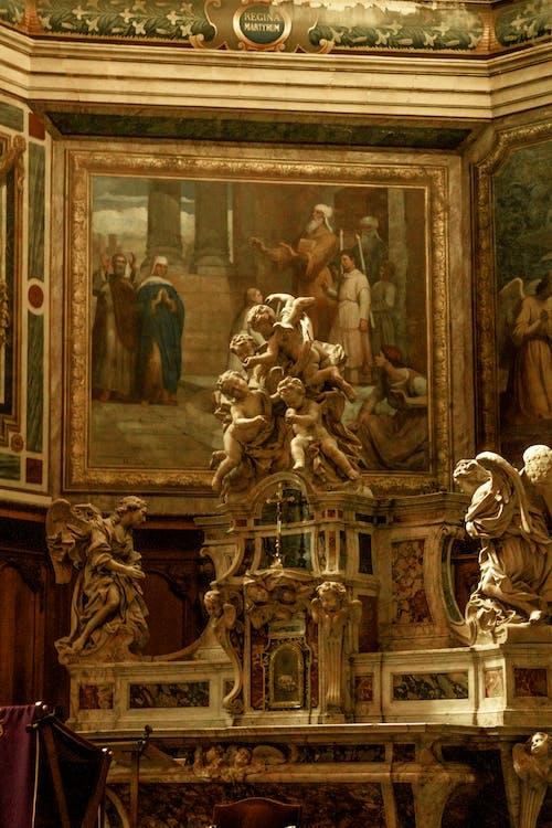 Fotos de stock gratuitas de adentro, ángeles, Arte, barroco