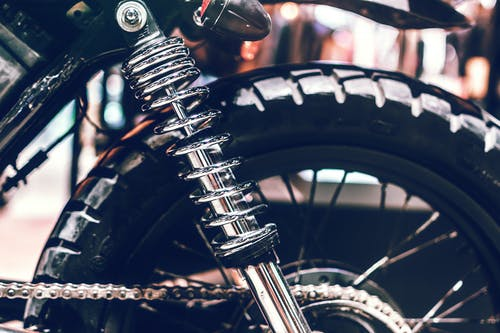 Close-up Photo of Black Motorcycle Tire