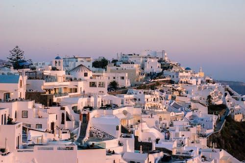 Fotos de stock gratuitas de amanecer, caldera, cielo rosa, destino de viaje