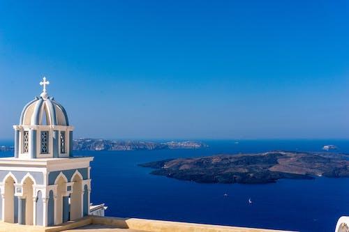 Ingyenes stockfotó építészet, Görögország, kaldera, kék témában