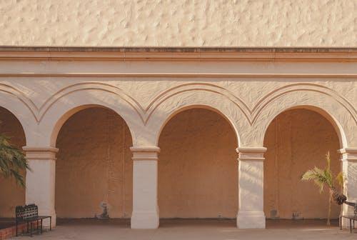 คลังภาพถ่ายฟรี ของ ซานดิเอโก, ซุ้มประตู, ทางเดินมีหลังคาเป็นรูปโค้ง, ปูนปั้น