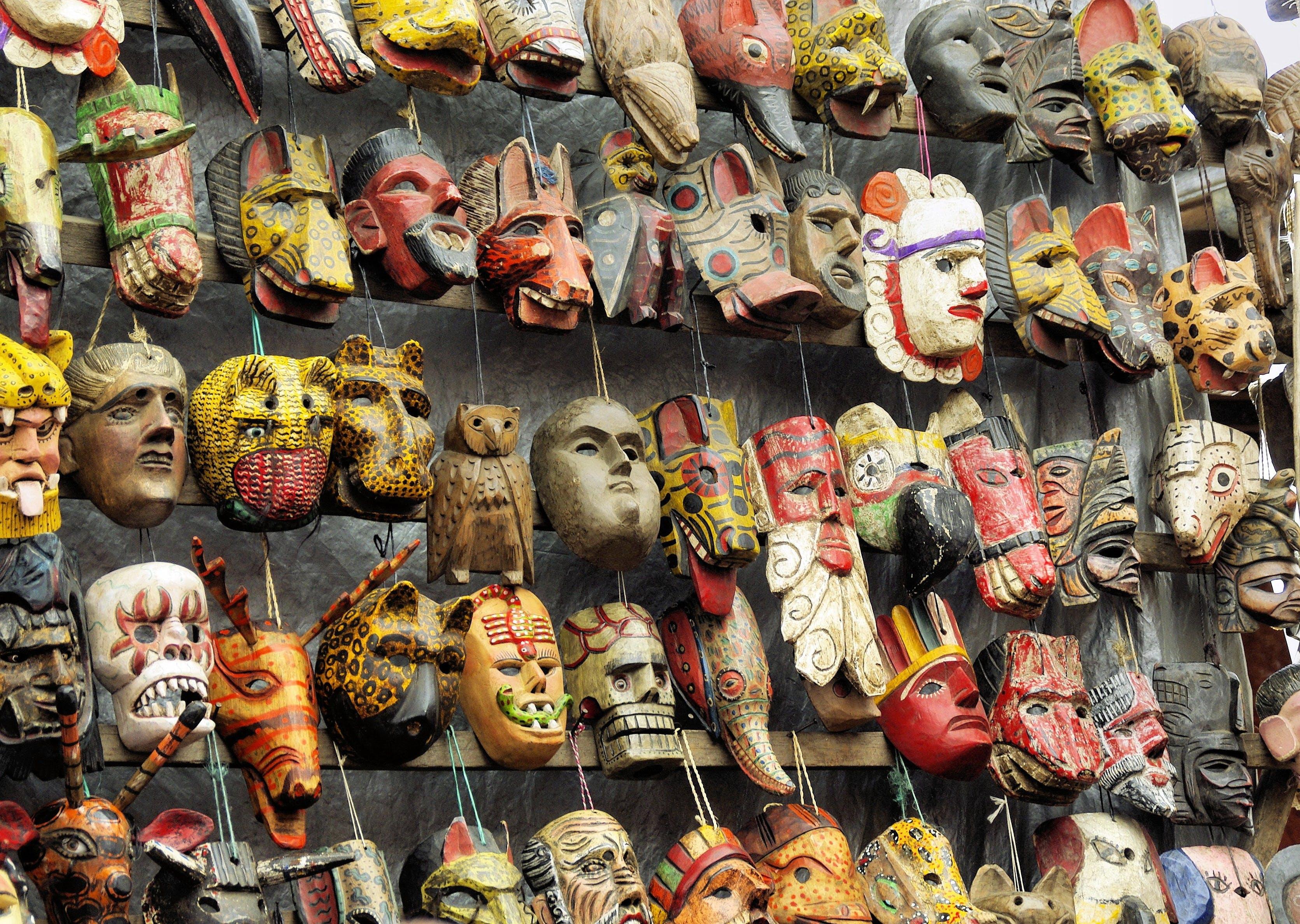 Free stock photo of market, objects, ethnic, masks