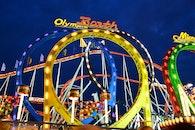 light, abendstimmung, roller coaster