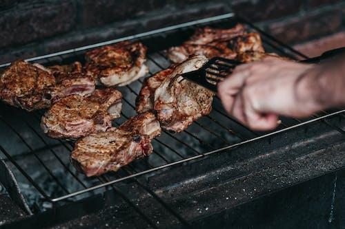 akşam yemeği, Barbekü, domuz eti, et içeren Ücretsiz stok fotoğraf