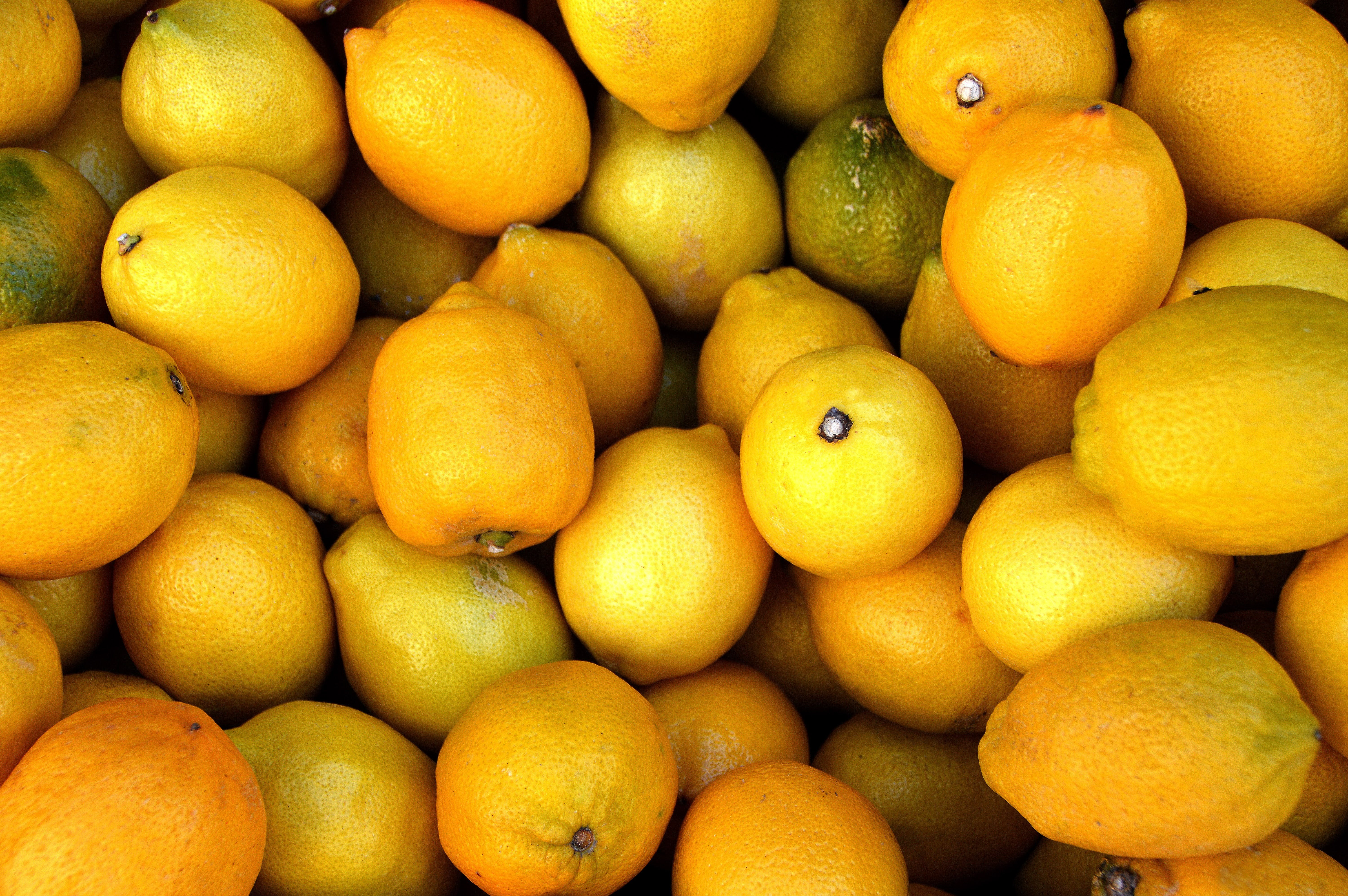 Bunch of Yellow Citrus