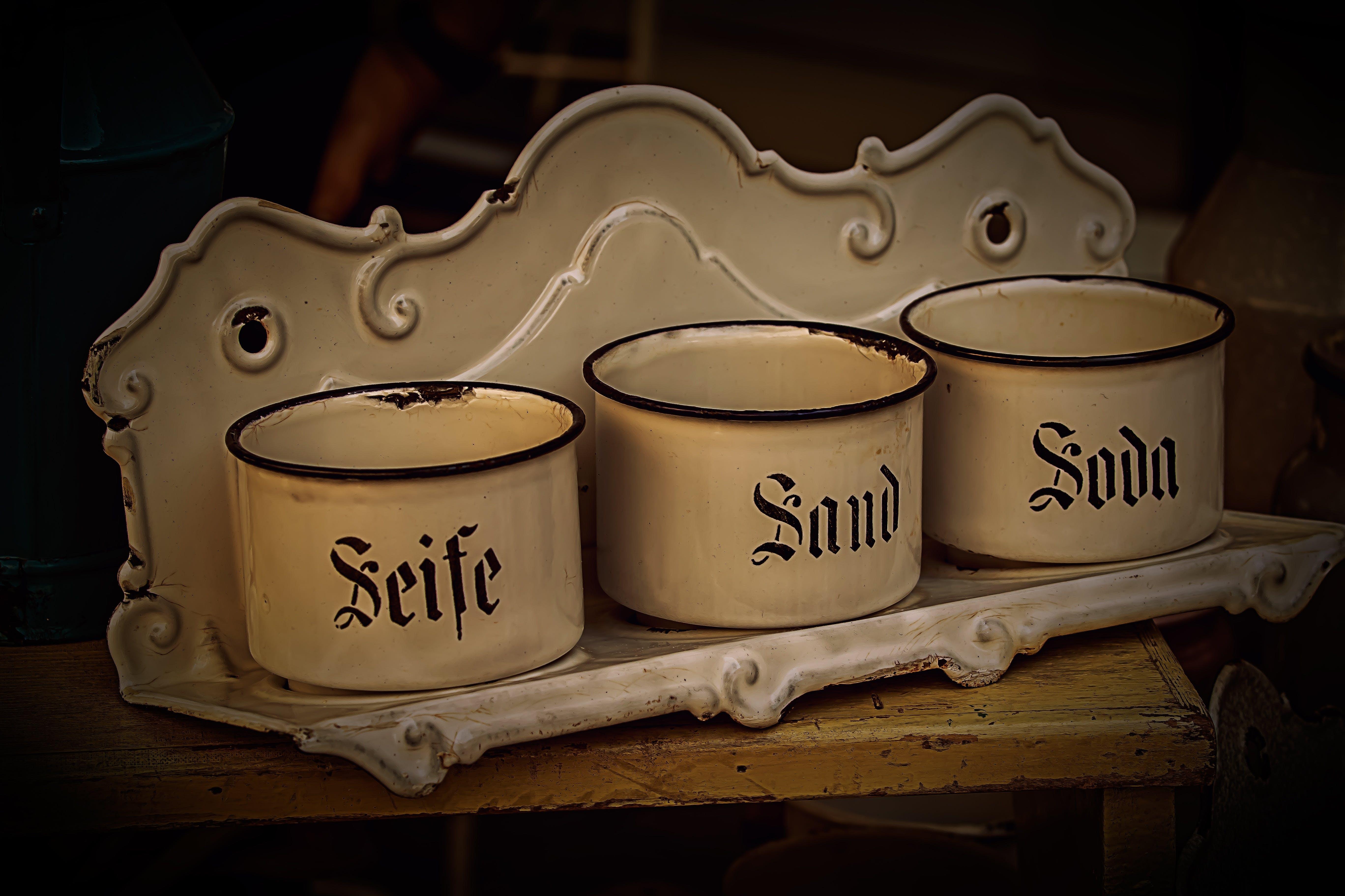 Free stock photo of soap, old, flea market, junk