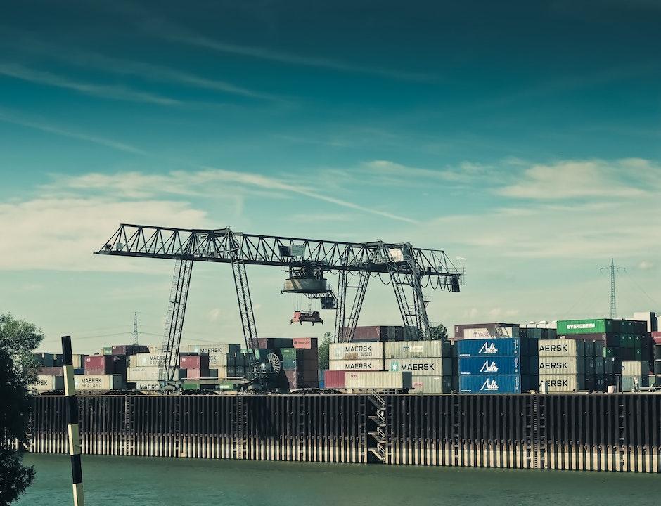 cargo, crane, harbor