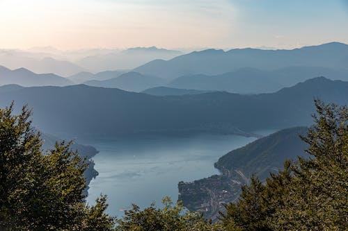 Free stock photo of Beautiful sunset, lake, lake lugano, layer