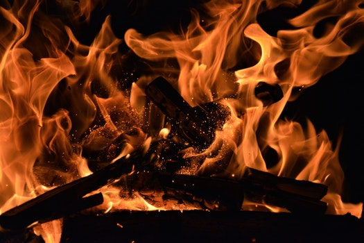 Free stock photo of wood, night, dark, firewood