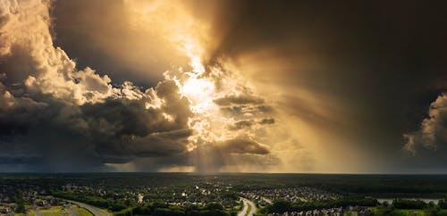 คลังภาพถ่ายฟรี ของ ฉาก, ทางอากาศ, พายุ, ภูมิทัศน์