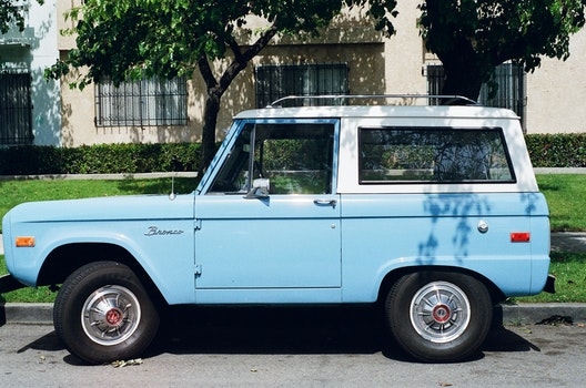 Free stock photo of blue, car, vehicle, vintage