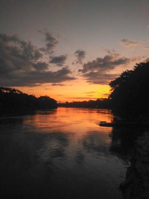 Free stock photo of evening sun, golden yellow, heaven, river
