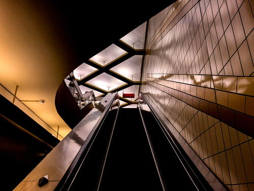Free stock photo of elevator, night, stairway, upstairs