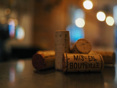 Close-up Bokeh Photo of Wine Corks