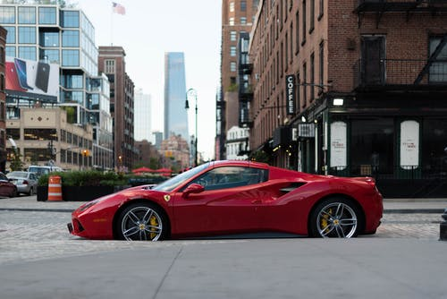 Photo of Ferrari Sports Car Parked on Road