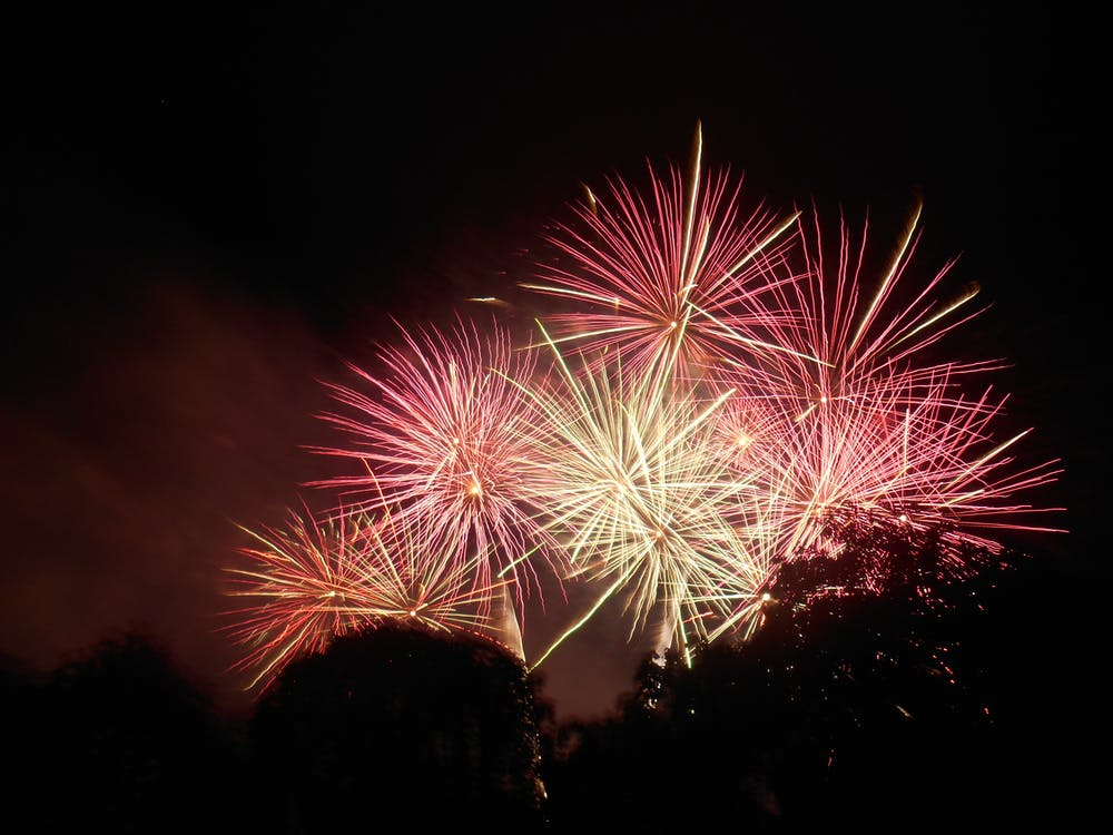 Time Lapse Photography of Fire Works