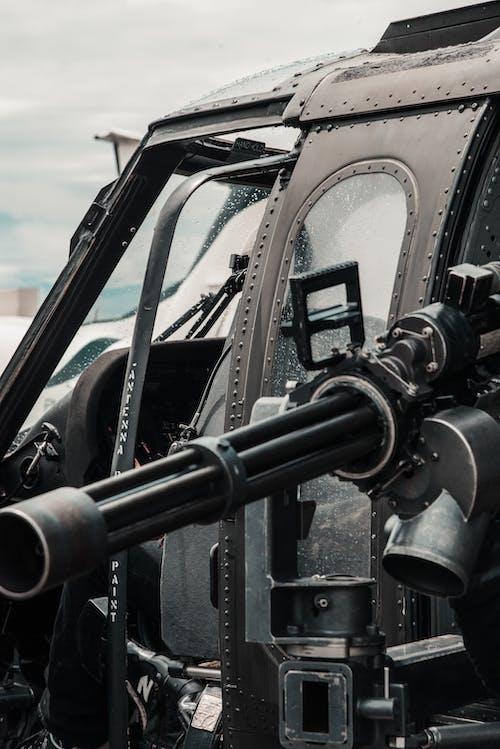 機槍, 武器, 特寫, 直升機 的 免费素材照片