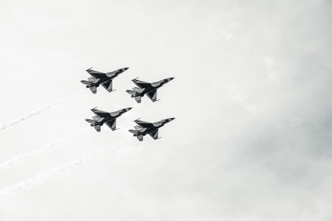 Four Gray Planes on Sky