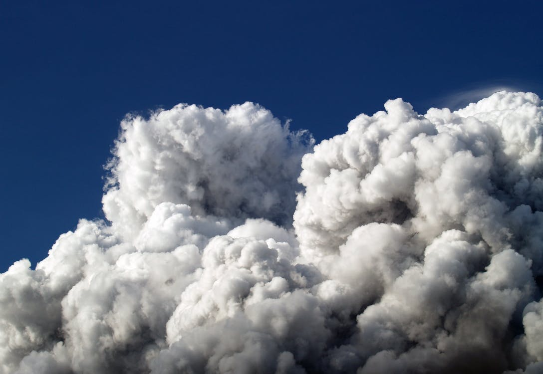 atmosfære, blå, blå himmel