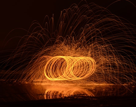 Free stock photo of light, art, long-exposure, sparks