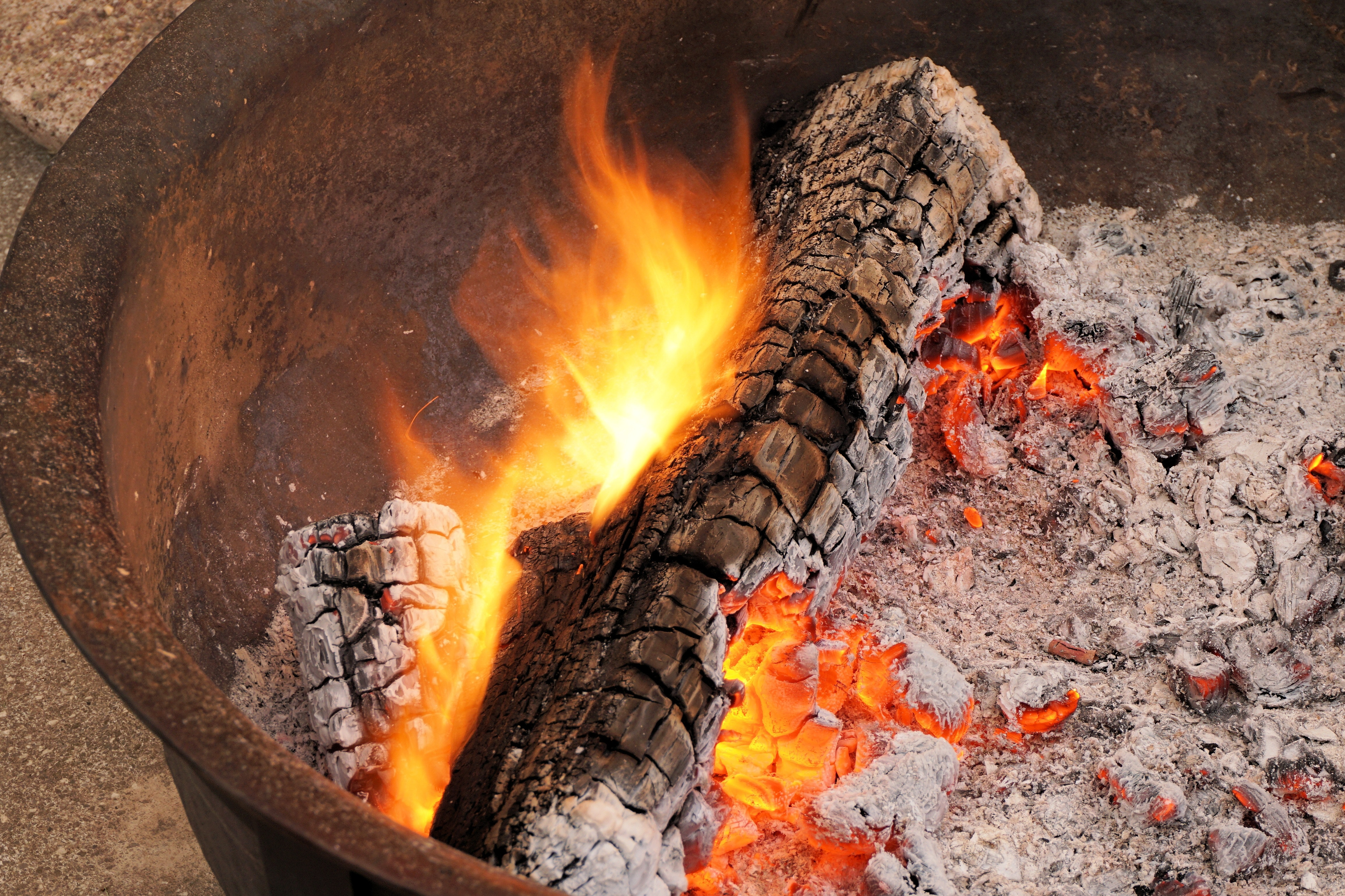 Charcoal On Fire 183 Free Stock Photo