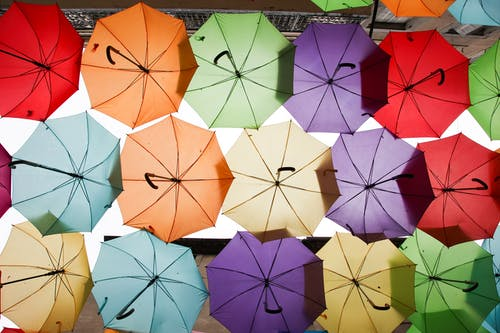 Free stock photo of abstract, colors, decorative, umbrellas