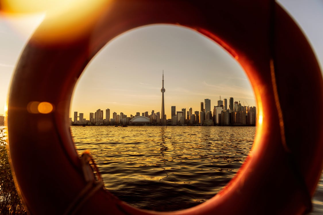 aube, bateau, beau coucher de soleil