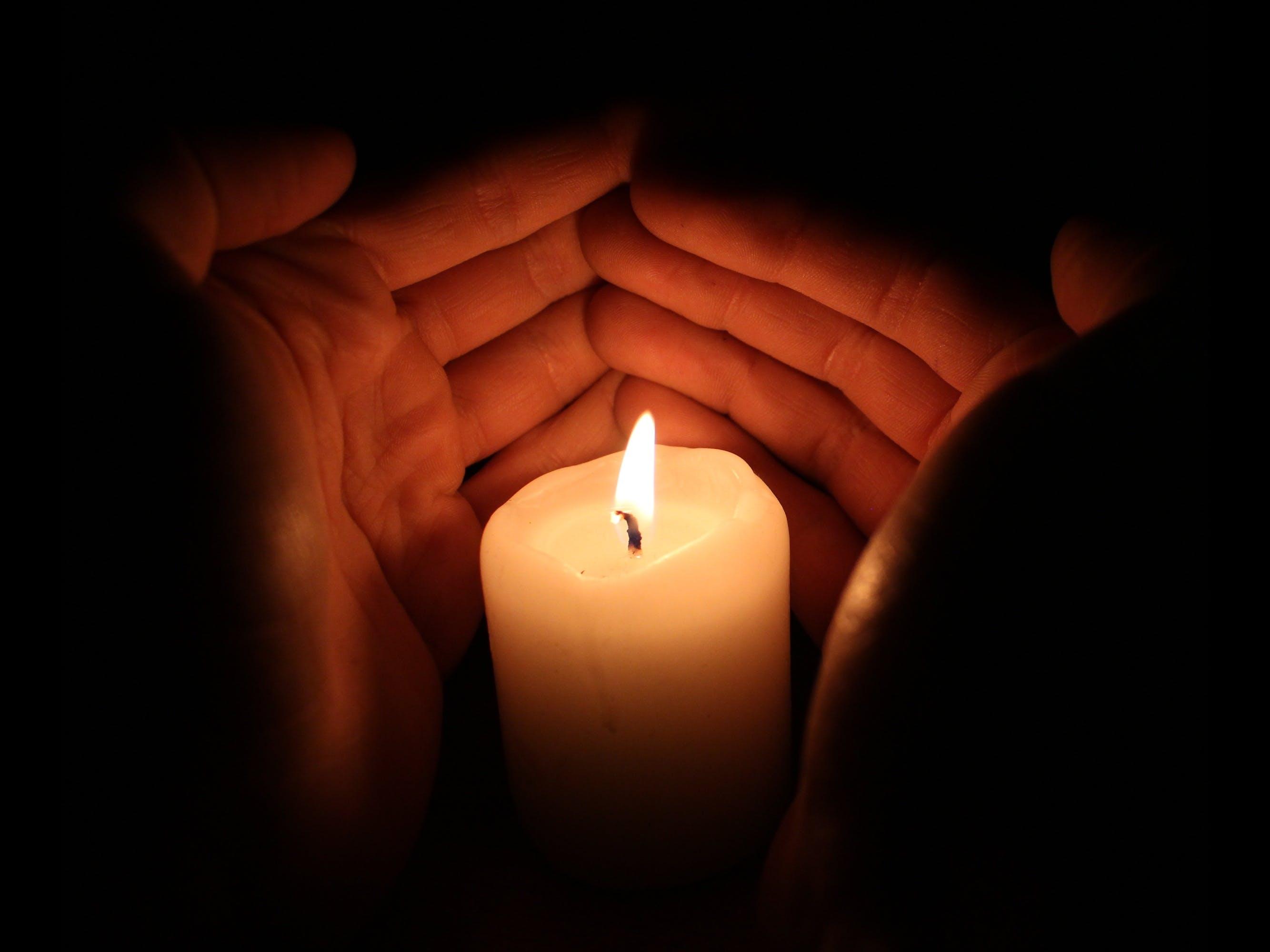 Free stock photo of black, bright, burning, candle
