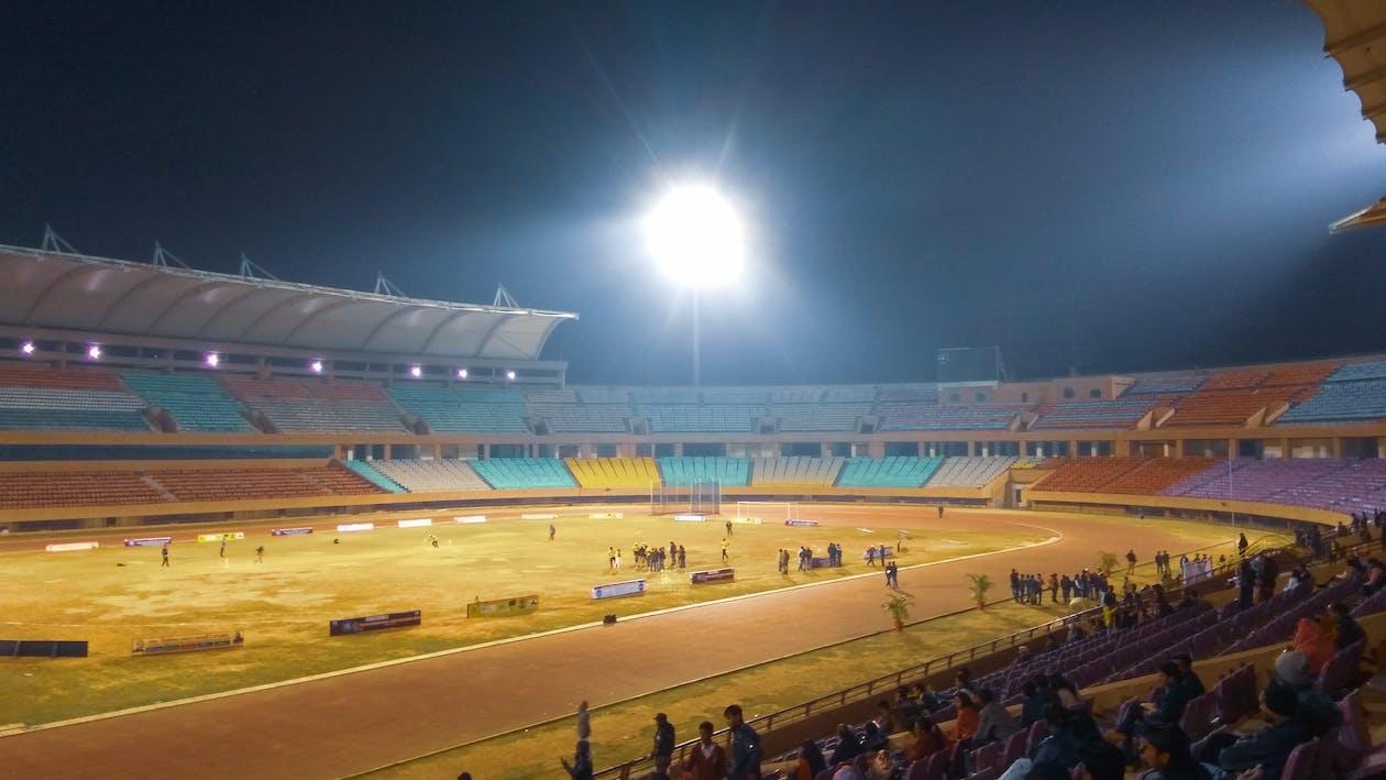 Foto profissional grátis de estádio, estádio olímpico, fotografia noturna