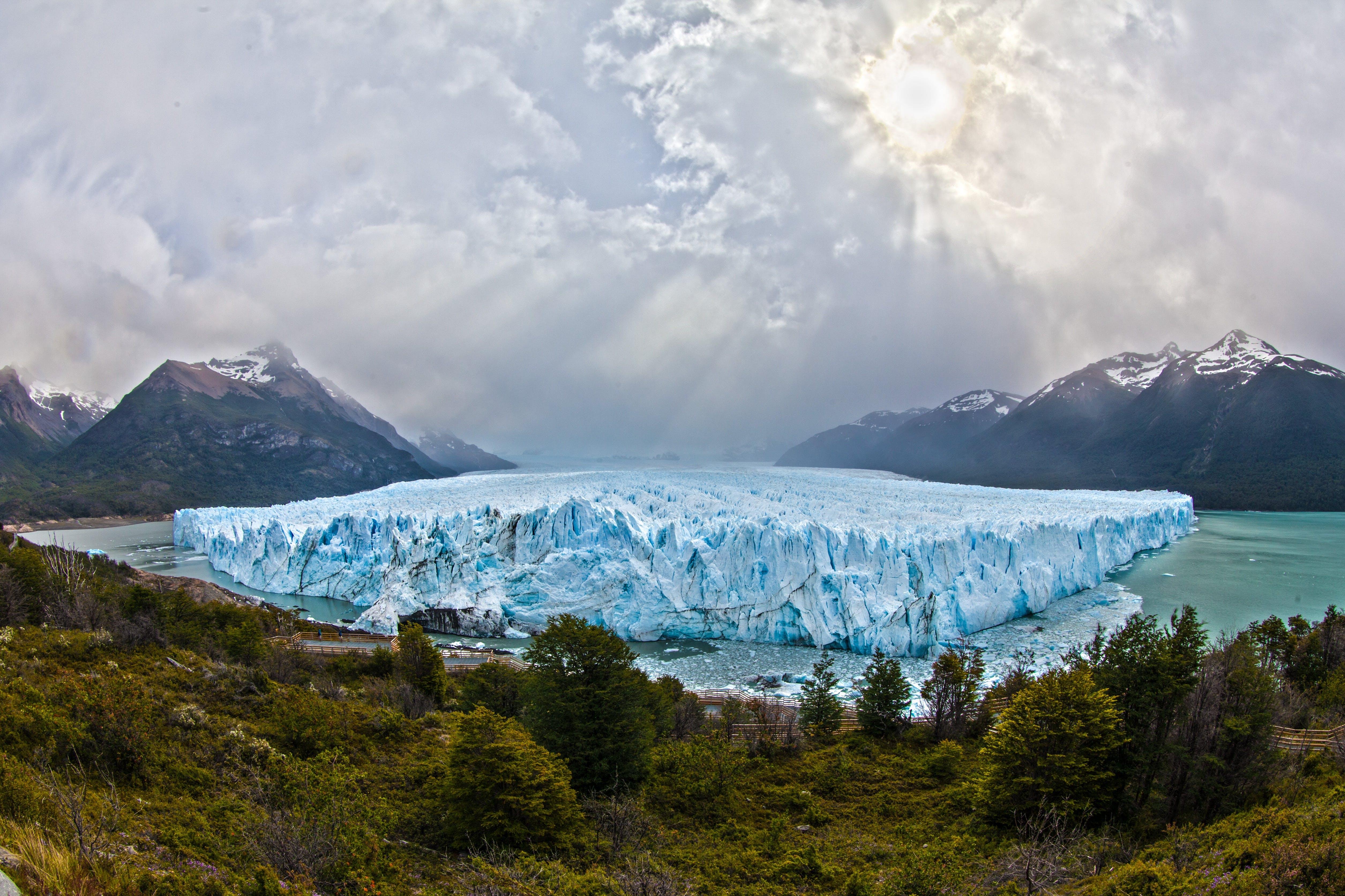 Iceberg Near Mountain Ranges