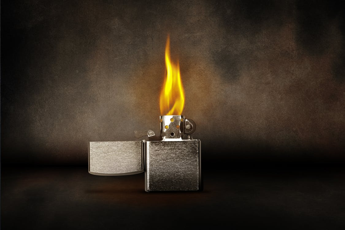 Time Lapse Photography of Flaming Flip Lighter