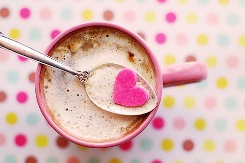 Fotobanka sbezplatnými fotkami na tému detailný záber, kakao, káva, káva láska