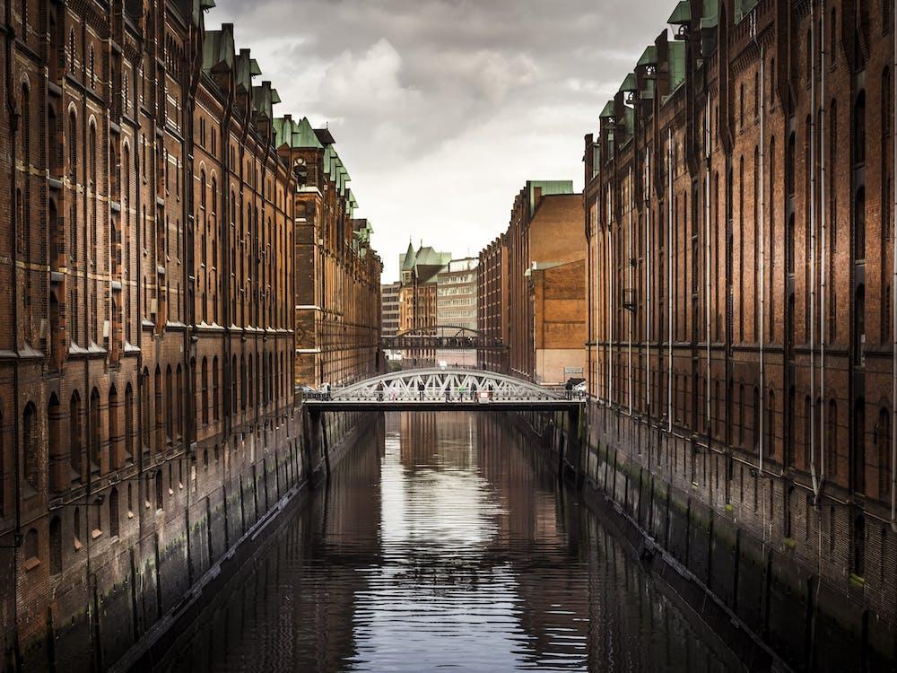 arkitektur, bro, by
