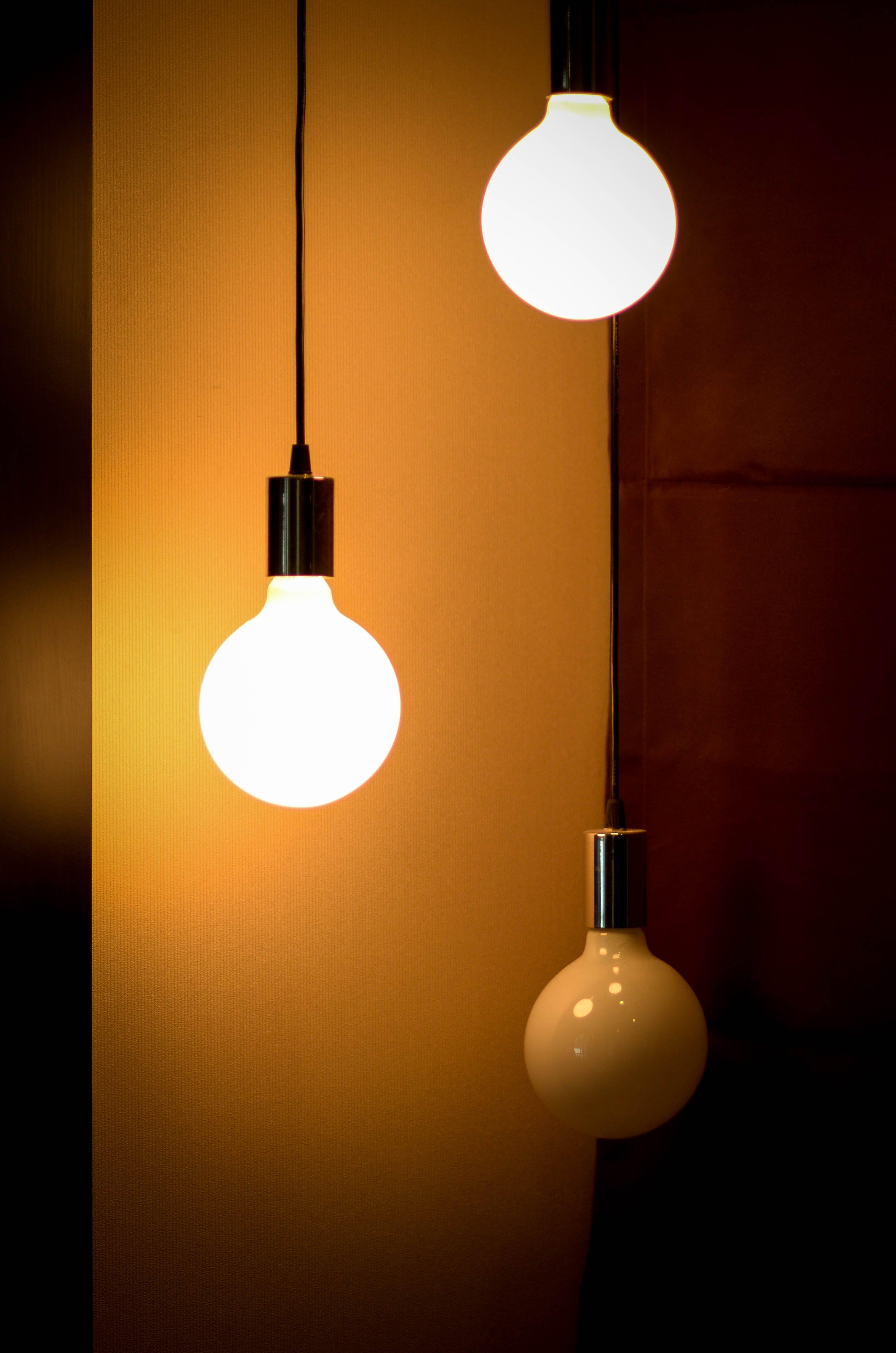 bright, bulb, close-up