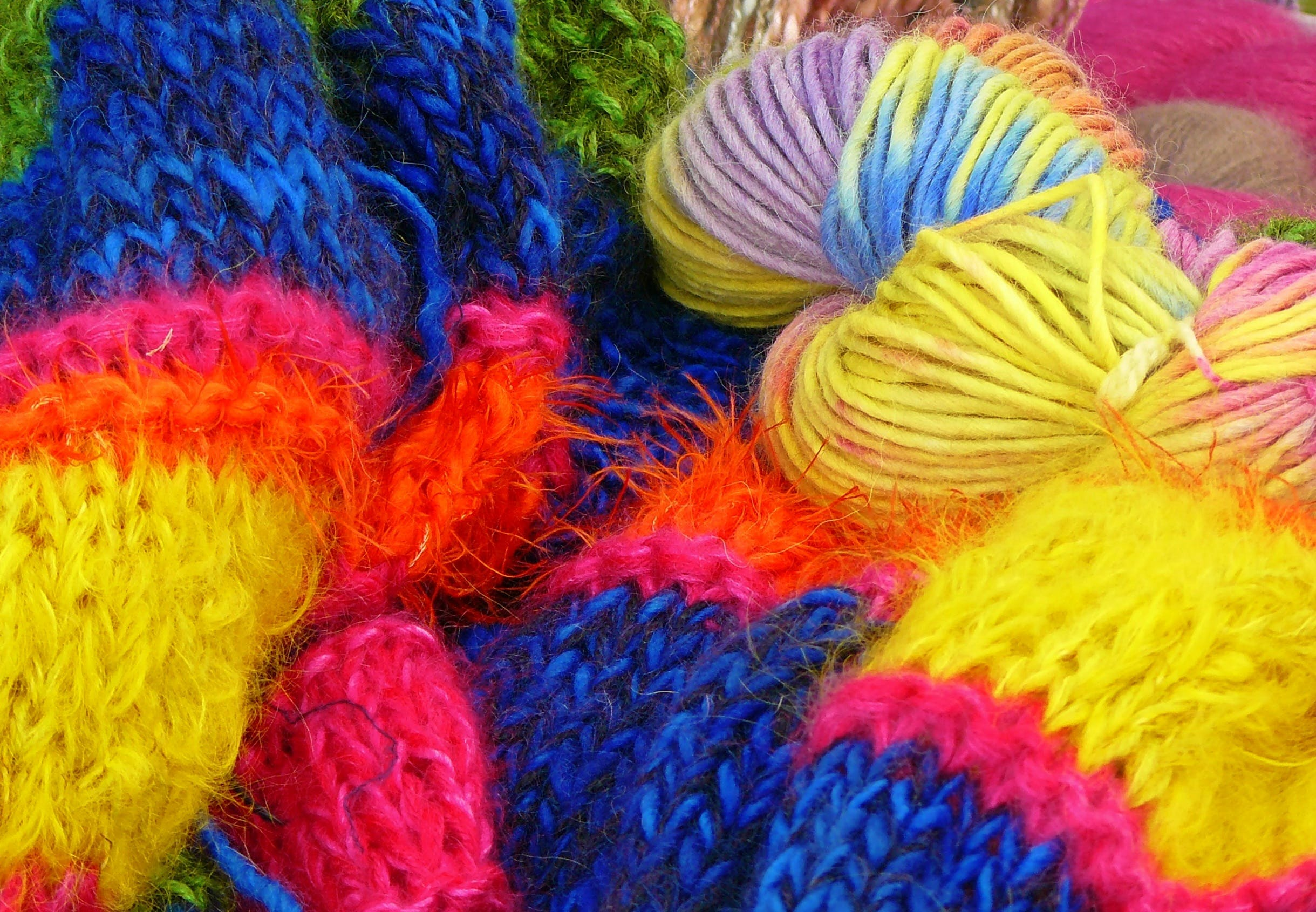 Free stock photo of winter, colorful, knitwear, color