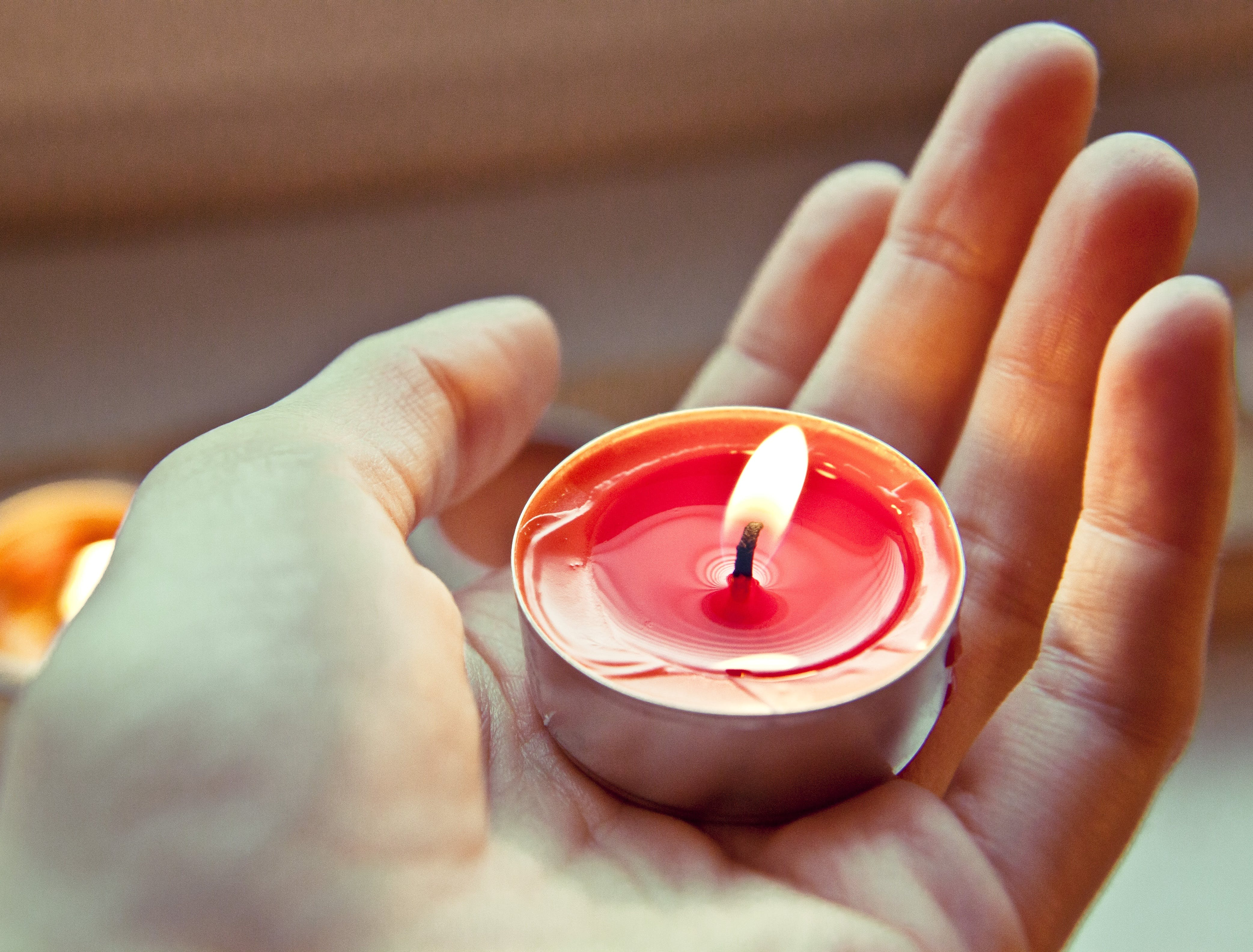 Free stock photo of light, hand, warm, candle