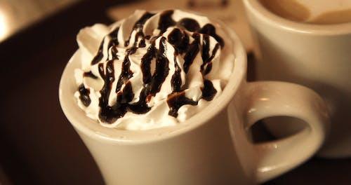 カップ, クリーミー, クリーム, チョコレートの無料の写真素材